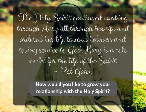 Lenten Walk Day 42:  The Working of the Holy Spirit