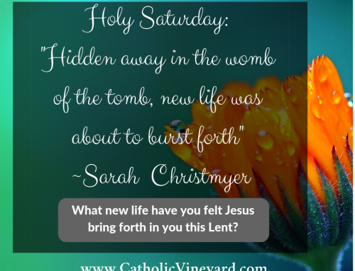 Walk in Her Sandals, Option C – Chapter 4: Holy Saturday